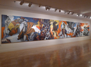 The Book of Job mural by High Mesibov currently on view at Yeshiva University Museum